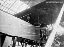 Howard Wright Navyplane . 1913 Seaplane. Woman sat in cockpit. photo .